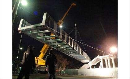 Надземные пешеходные переходы строят по ночам