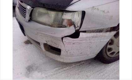 Госномер виновника аварии, сбежавшего с места ДТП, отпечатался на бампере
