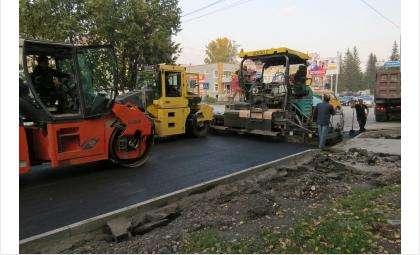 Асфальтоукладчики до 2015 года завершили работу на ул. Ленина в Бердске