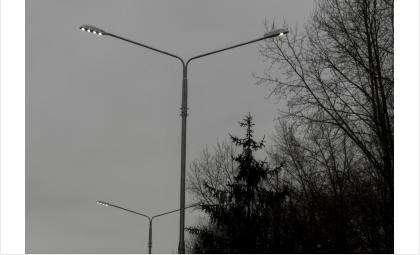 Новые светодиодные фонари установлены пока на нечетной стороне ул. Ленина