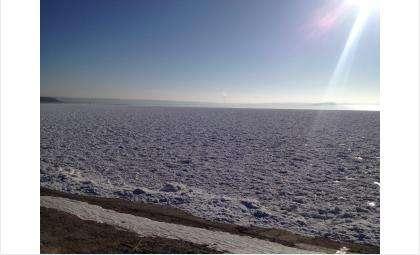 Лед на плотине ОбьГЭС