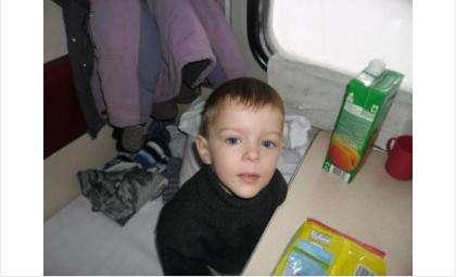 4-летний Паша Дроздов был похищен пьяной проституткой, найден и возвращен родителям. Фото ГУ МВД по НСО
