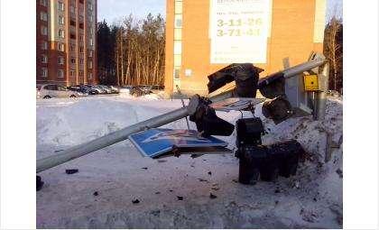 Светофор был сбит водителем автовоза