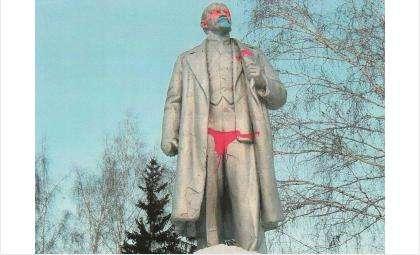 Памятник Ленину осквернили в Новосибирске