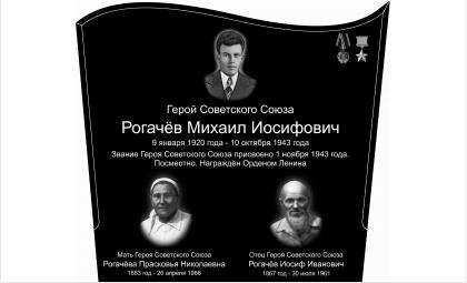 Эскиз памятника Рогачевым