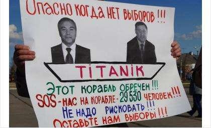Главный протестный плакат на пикете в Барабинске