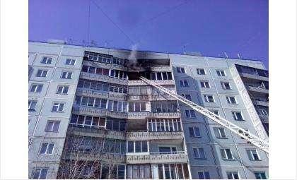 Квартира на 9 этаже в Бердске загорелась из-за залетевшего на балкон непотушенного окурка