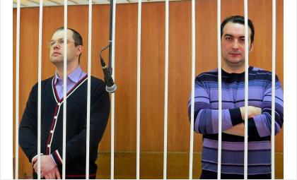 Илья Потапов (слева) - 10 лет колонии строгого режима, Владимир Мухамедов - 9 лет колонии строгого режима. Плюс по 500 млн рублей штраф каждому