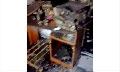 Во время пожара пострадало оборудование  кассы