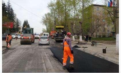 Ямочный ремонт на ул. Ленина в Бердске