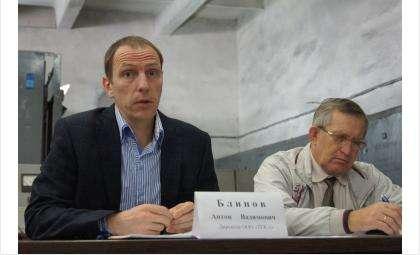 Директор ООО «ТГК-1»  Антон Блинов и руководитель рабочей группы по созданию местного отделения ОНФ Николай Сычев