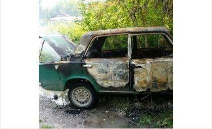 Юный угонщик сжег один из угнанных им ВАЗов