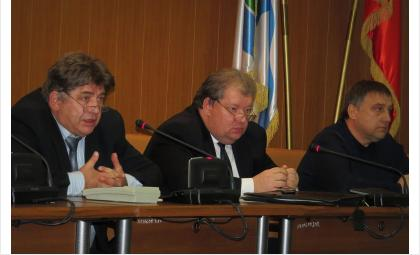 Слева направо: Евгений Шестернин, Александр Кожин и Андрей Никулин