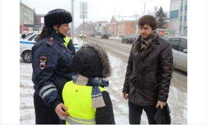 Дети и инспекторы ГИБДД вручили водителям письма