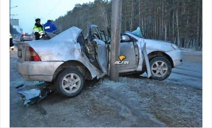 Смертельное ДТП под Бердском. Скончался пассажир разбившейся «Тойоты»