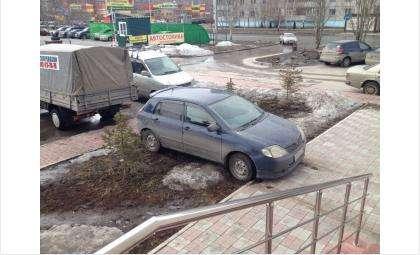 Автомобиль в таком положении простоял весь день