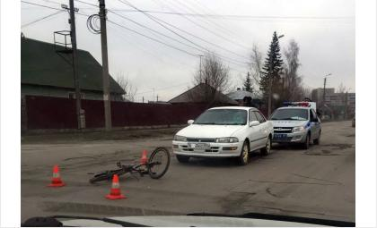 Юного велосипедиста сбили на ул. Свердлова в Бердске