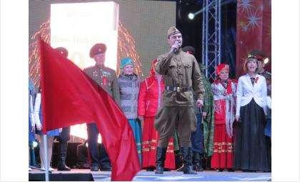 Патриотические песни звучали в Бердске в День Победы