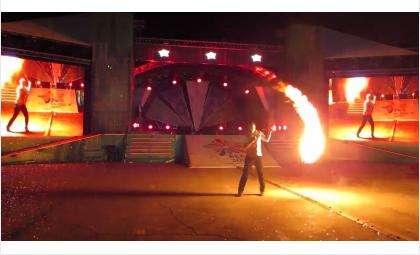 Файер-шоу в день города в Бердске