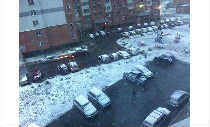 Первый снег в Бердске
