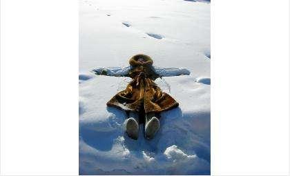 Певица Машани во время съемок клипа о снеге