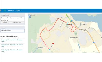 На сайте rnis.nso.ru можно отследить автобусы Бердска
