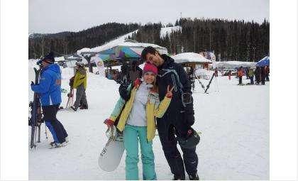 Супруги Самборские на горнолыжном курорте