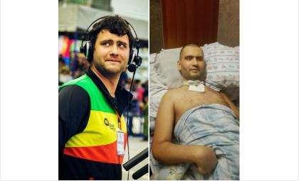 27-летний Антон Ермоленко до и после медицинской помощи, оказанной около полугода назад