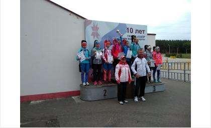 Биатлонисты города Бердска: Николай Калинин, Павел Иванов, Мария Кретова и Ульяна Власенкова