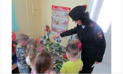 Урок дорожной грамоты провела ГИБДД для дошкольников Бердска