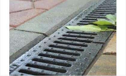 На фото: пример ливневой канализации