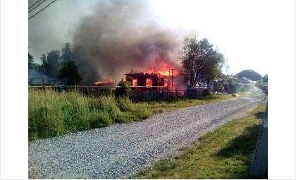 В огне пострадал 86-летний дедушка