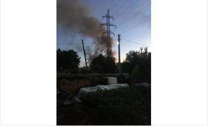 Пожар на ул. Зональной