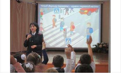 «Стань примерным пешеходом!» - первоклассников Бердска учат азам безопасности