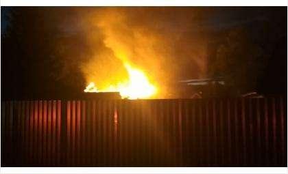 Пожар в СНТ Отдых в Бердске