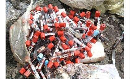 Опасные медицинские отходы найден на свалке в Убинском районе