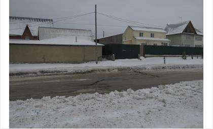 Ручей стоков вытекает со стороны ул. Новой