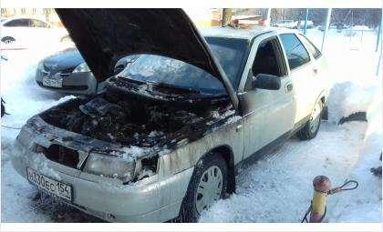 Из-за автопрогрева загорелся ВАЗ-2110 в Бердске