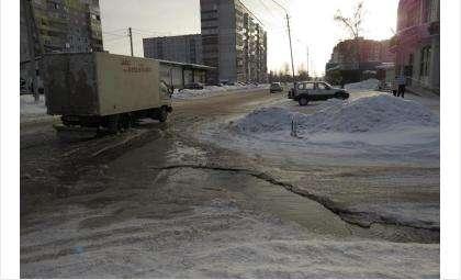 Фекалии текли рекой по дороге