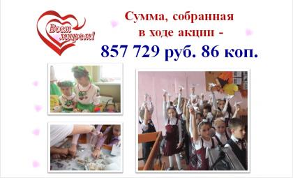 Акция «Всем миром» - в Бердске собрали более 850 тыс. рублей для больных детей