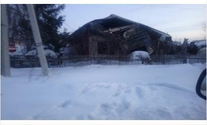 Дом №71 на ул. Герцена сгорел дотла