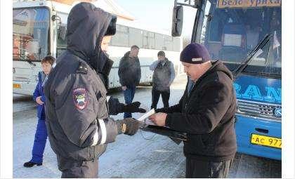 Проверки пассажирского транспорта проводит ГИБДД в Искитиме