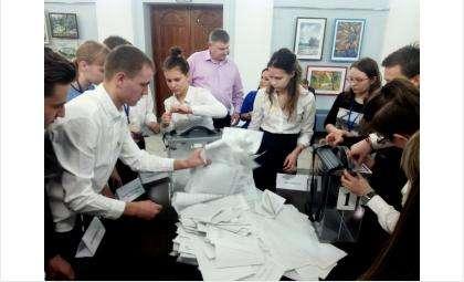Итоги голосования на выборах в Молодежный парламент региона в Бердске