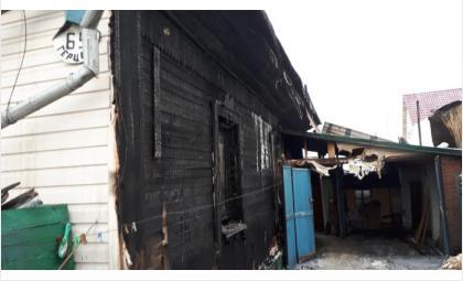 25 января горел дом на ул. Герцена, 69 в Бердске