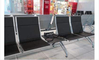 Кресла поставили в международном терминале