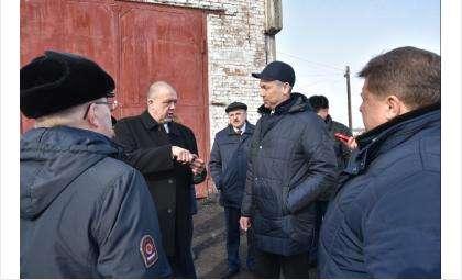 Бердских термороботов представили губернатору в Барабинском районе
