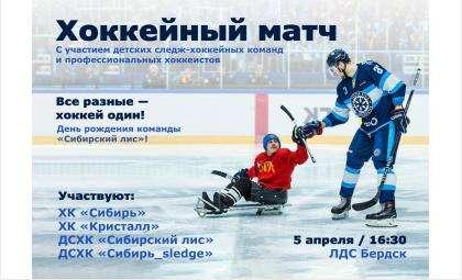 День рождения бердский «Сибирский лис» отметит с профессионалами сибирского хоккея