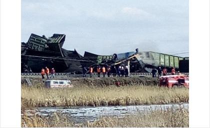 Крушение грузового поезда 18.04.18 произошло в Евсино Искитимского района
