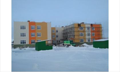 Яркое здание нового детского сада