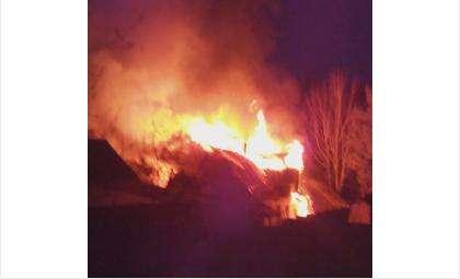 Дом полыхал открытым огнём